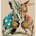 Democrats Republicans boxing