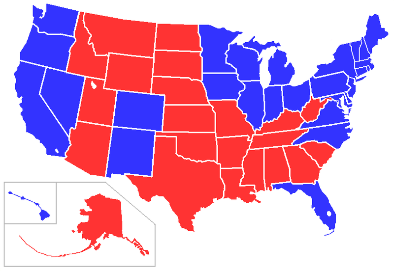 A Different Way To Run The Electoral College Marquette - Electoral college us map
