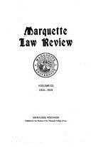 Marquette Law Review Cover