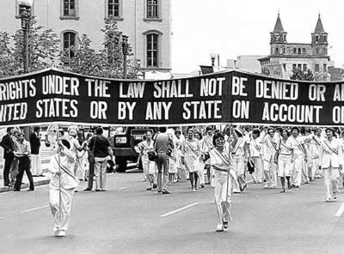 1960s Woman's suffrage march