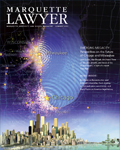 A photo of the cover of Marquette Lawyer