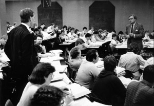 John Kircher teaches a law school class, 1986