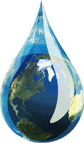 Banner logo - Earth in a drop
