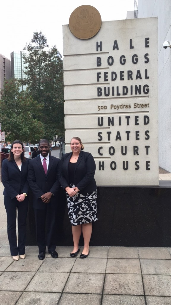 A photo of the Moot Court Team in New Orleans, LA