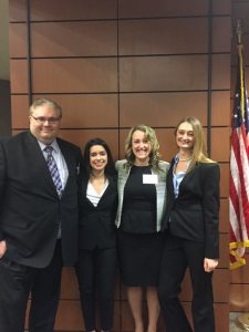 The 2017 Jessup Moot Court Team poses for a photo.