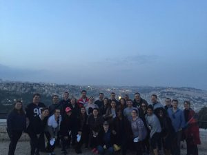 Group photo of Marquette Law students that traveled to Israel