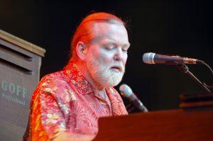 Singer Geg Allman plays the keyboard.