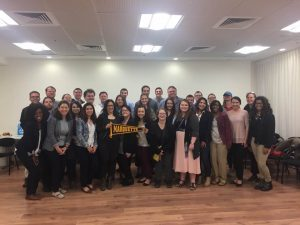 Group of Marquette Law students and others on Israel trip