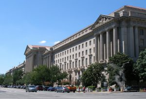 A view of EPA headquarters in Washington, DC