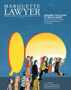 Marquette Lawyer Magazine Cover Fall 2017