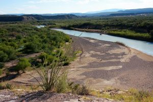 The Rio Grande River near the USA-Mexico border