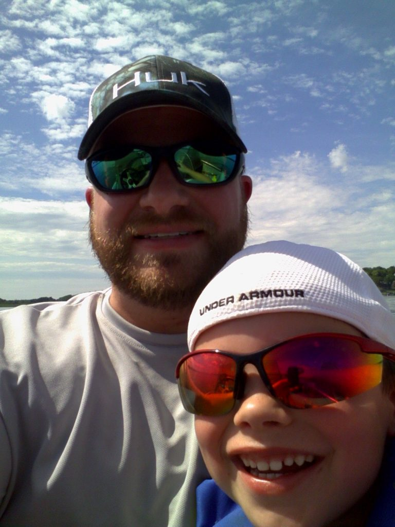 Ben and son fishing