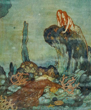 Illustration of Ariel's Song from The Tempest