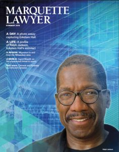 Image of Ralph Jackson on the Marquette Lawyer Cover