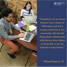 2L Richard Esparza's comments on pro bono work