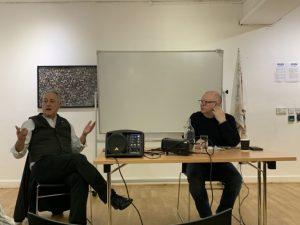 Panelists at the Irish Language Center in Belfast