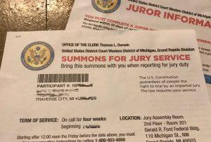 photo of jury summons