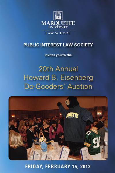 20th Annual Howard B. Eisenberg Do-Gooders' Auction