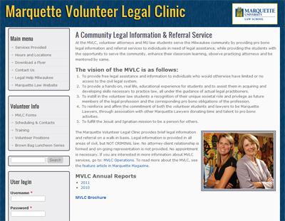 Marquette Volunteer Legal Clinic